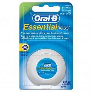 Нить для зубов Oral-B Essential floss Waxed мятная
