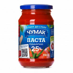 Паста Чумак томатна скло