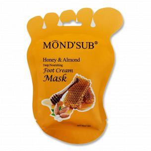 Маска для ног Mond`Sub Мед и миндаль питательная тканевая