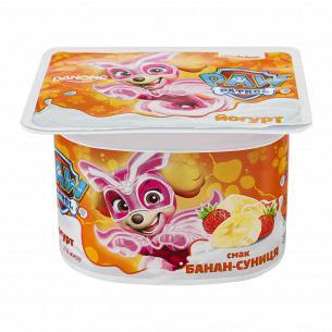Йогурт Danone Суниця-банан 2% стакан