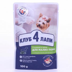 Корм для собак Club 4 Paws с курицей в желе