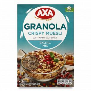 Мюсли AXA медовые с семенами льна, клюквой и кокосом