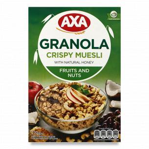 Мюсли AXA медовые с фруктами и орехами