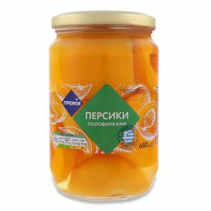 Персики Премія половинками в легком сиропе