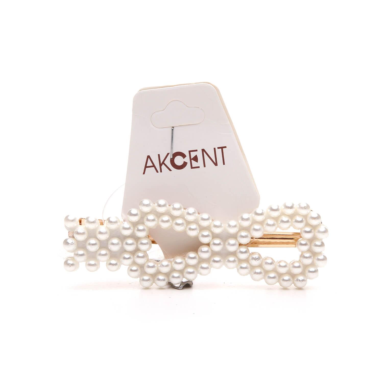 Зажим для волос Akcent с жумчужинками силикон G1011z