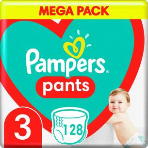 Подгузники - трусики Pampers Pants Размер 3 (6-11 кг), 128 шт