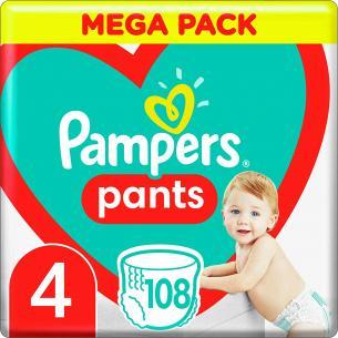 Підгузки - трусики Pampers Pants Розмір 4 (9-15 кг), 108 шт