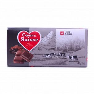 Шоколад чорний Coeur de Suisse