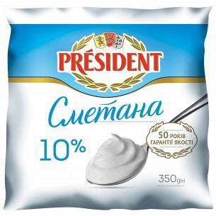 Сметана President 10% п/е