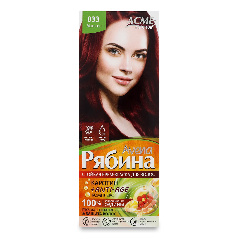 Краска для волос Acme Color Avena Рябина +Anti-Age 033 Махагон