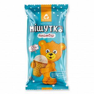 Мороженое Три ведмеді Мишутка пломбир 12% вафельный стакан