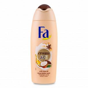Гель для душу Fa Сream&Oil з маслом кокоса і ароматом какао