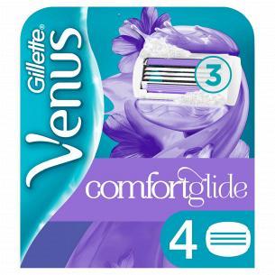 Змінні картриджі для гоління (Леза) жіночі Venus ComfortGlide Breeze 4 шт