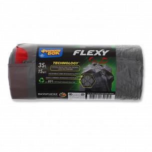 Пакети для сміття Фрекен Бок Flexy з затяжками 35л