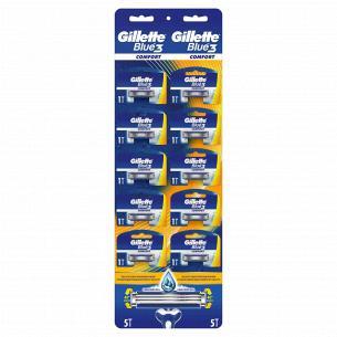 Одноразові станки для гоління (Бритви)  Gillette Blue3 Comfort 1 шт.