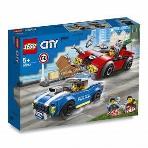 Конструктор Lego City Полицейский арест на автостраде 60242