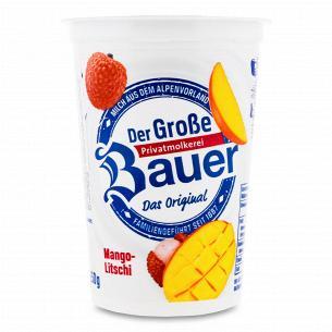 Йогурт Bauer з наповнювачем манго-лічі 2,9%