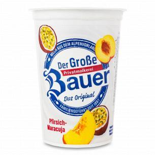 Йогурт Bauer з наповнювачем персик-маракуйя 2,9%