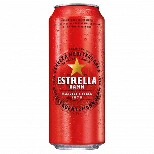Пиво Estrella Damm Barcelona світле м/б