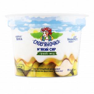 Паста творожная Слов`яночка груша-мед двухслойная 4,1%