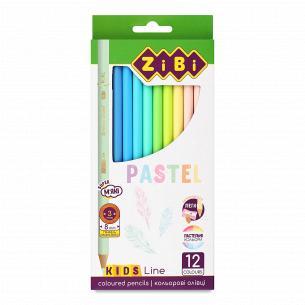 Карандаши ZiBi Kids Line Pastel Colors 12 цветов
