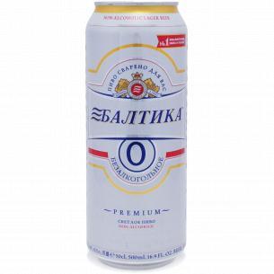 Пиво Балтика №0 безалкогольное ж/б