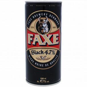 Пиво Faxe Black темное 4,7% ж/б