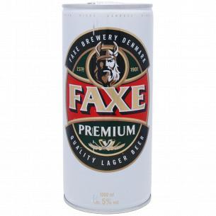 Пиво Faxe Premium светлое ж/б