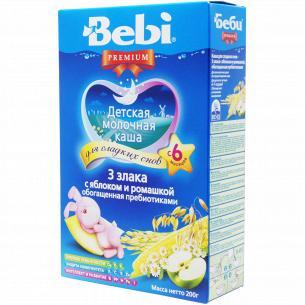 Каша Bebi Premium 3 злака с яблоком и ромашкой