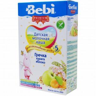 Каша гречневая Bebi Premium молочн курага-яблоко