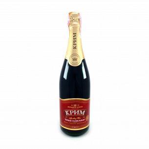 Шампанское АЗШВ КРЫМ красное полусладкое