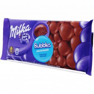 Шоколад молочный Milka Bubbles пористый