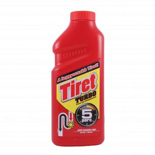 Средство для чистки канализационнных труб Tiret Turbo жидкое