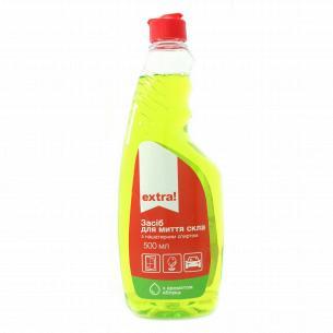 Средство для мытья стекол Extra! С ароматом яблока запаска