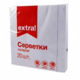 Салфетки бумажные Extra! белые