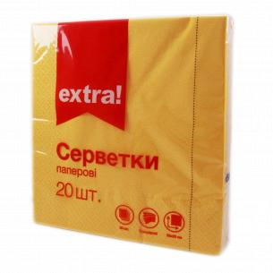 Серветки паперові Extra! жовті