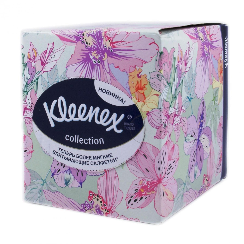 Салфетки бумажные Kleenex Collection в коробке