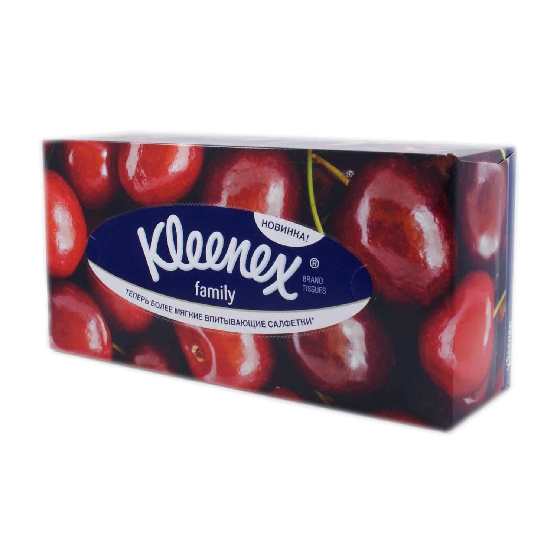 Салфетки бумажные Kleenex Family в коробке