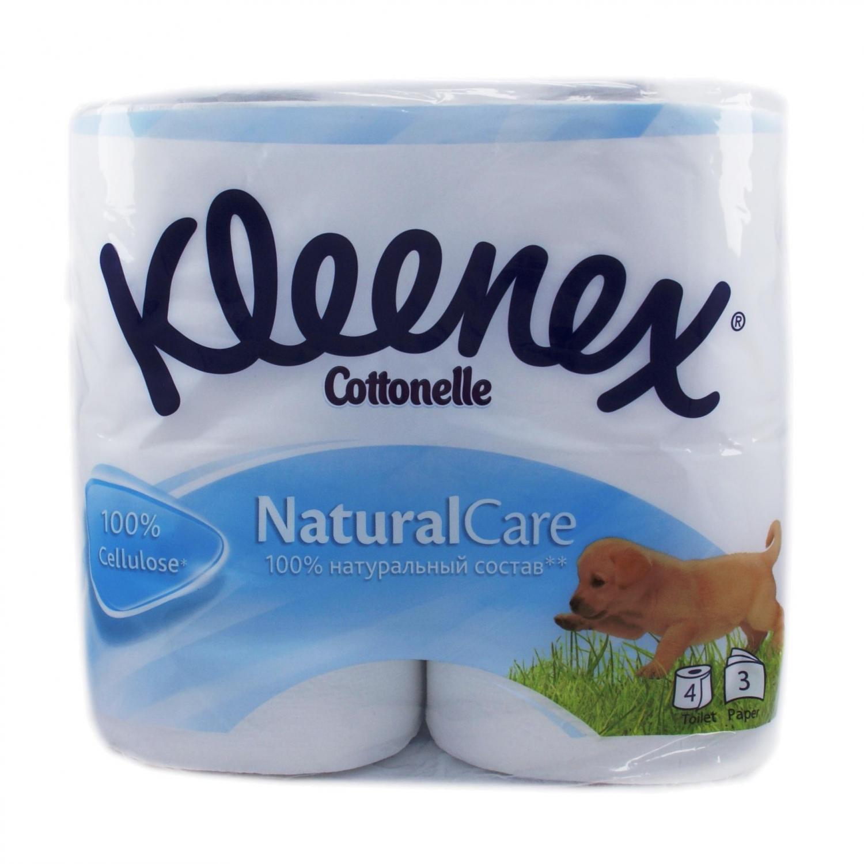 Бумага туалетная Kleenex Natural 3-слойная