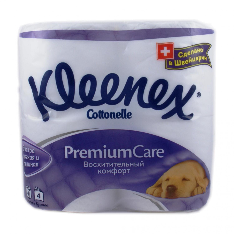 Бумага туалетная Kleenex Premium Comfort 4слоя