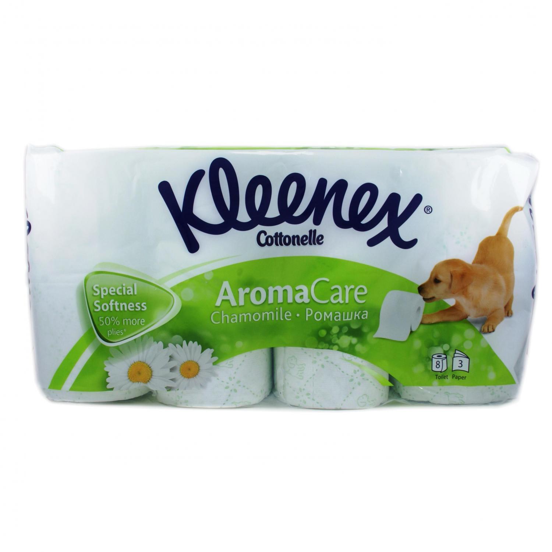 Бумага туалетная Kleenex Ромашка 3-слойная