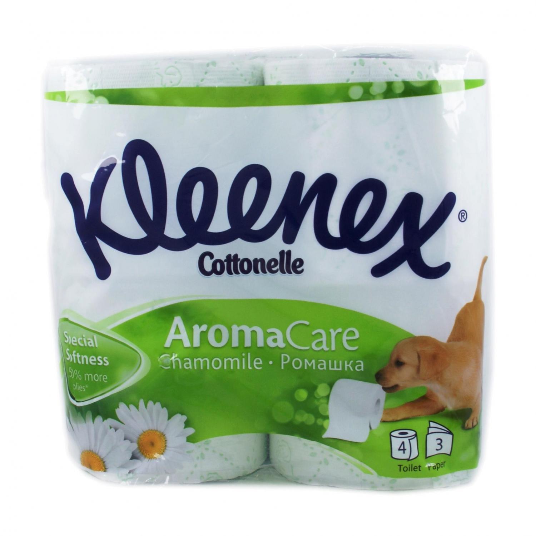 Бумага туалетная Kleenex Ромашка 3-слойная 4шт/уп