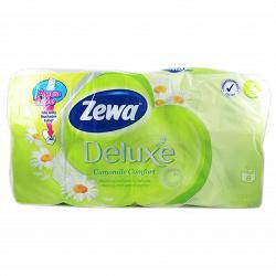 Бумага туалетная Zewa Deluxe White Ромашка