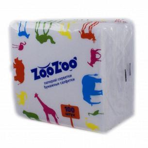 Салфетки ZooZoo 1слой белые 24х23см