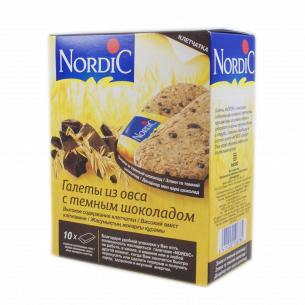 Галеты Nordic из злаков с темным шоколадом
