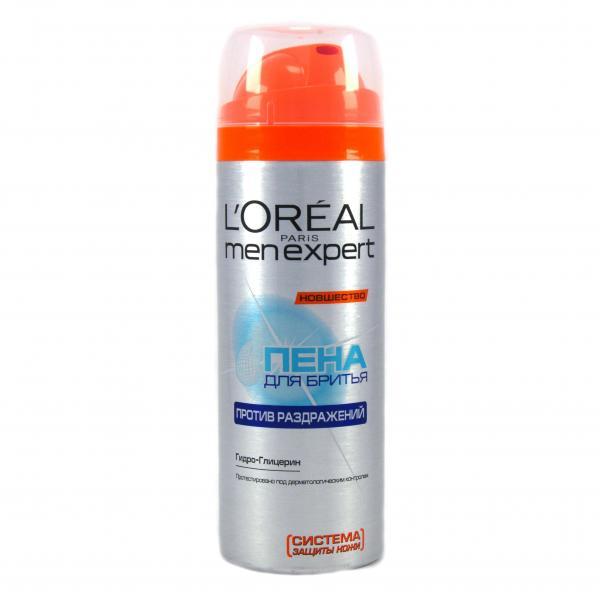 Пена для бритья L`Oreal MenExpert От раздражения кожи