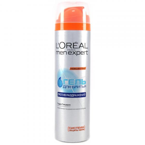 Гель для бритья L`Oreal MenExpert От раздражения кожи