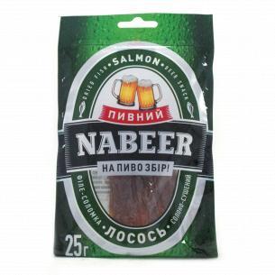 """Лосось """"Пивний Nabeer"""" соломка солено-сушеная"""