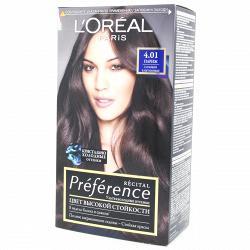 Краска для волос L`Oreal RECITAL Preference тон 4.01