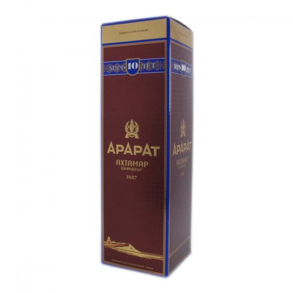 Коньяк АРАРАТ АХТАМАР 10 лет подарочная коробка